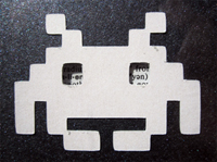 Space Invader Bookmark